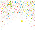 Confetti backgound colorful with stars vector Royalty Free Stock Photos