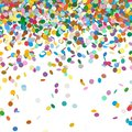 Colorful Abstract Falling Confetti with White Background
