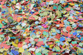Confetti bunch of many colorful Royalty Free Stock Image