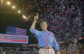 Confetti falls on an exuberant Senator John Kerry Royalty Free Stock Photo