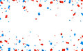 Confetti frame celebration banner Royalty Free Stock Photo