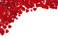 Confetti hearts corner border Royalty Free Stock Photo