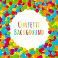 Confetti. Multi-colored small paper circles. Vector illustration