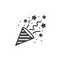Confetti Popper icon vector, filled flat sign, solid pictogram i