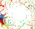 Confetti on retro background Royalty Free Stock Photo