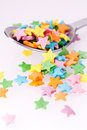 Confetti on the spoon Stock Photos