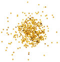Confetti stars golden in star shape isolated on white Royalty Free Stock Image