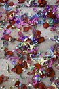 Confetti wedding soil with rice and colors celebration Stock Photo
