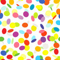 Confetti on white background seamless pattern new year multicolored flying Royalty Free Stock Image