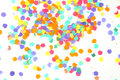 Confetti on white time to celebrate isolated a background Royalty Free Stock Photo