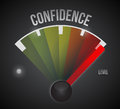 Confidence level measure meter from low to high Royalty Free Stock Photo
