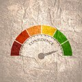 Confidence level meter Royalty Free Stock Photo