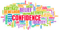Confidence in personal belief and self developing Stock Image