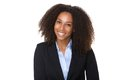 Confident african american business woman close up portrait of a Royalty Free Stock Photo