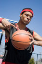 Confident Basketball Player Stock Image
