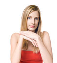 Confident blond beauty. Royalty Free Stock Photo