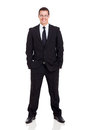 Confident business entrepreneur young on white background Royalty Free Stock Photos