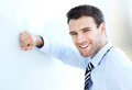 Confident business man portrait of young smiling Stock Images