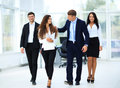 Confident business partners walking Royalty Free Stock Photo