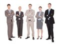 Confident Business Team Standing Arms Crossed Royalty Free Stock Photo