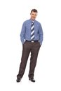 Confident businessman full-length Stock Photography