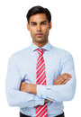 Confident Businessman Standing Arms Crossed Royalty Free Stock Photo