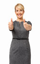 Confident Businesswoman Showing Thumbs Up Royalty Free Stock Photo