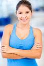 Confident gym woman Stock Image