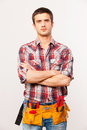 Confident handyman. Royalty Free Stock Photo