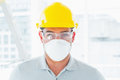 Confident handyman wearing protective workwear portrait of at site Royalty Free Stock Images