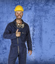 Confident labourer standing Royalty Free Stock Photo