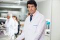 Confident male technician portrait of in laboratory Stock Image