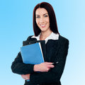 Confident middle aged corporate woman female business executive posing smartly Stock Images