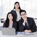 Confident multi ethnic business team in office Royalty Free Stock Photo