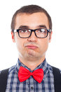 Confident nerd man face Stock Photo