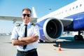 Confident pilot. Royalty Free Stock Photo