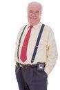 Confident portly senior gentleman Royalty Free Stock Photo