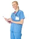 Confident senior doctor, portrait Stock Photos