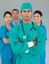 Confident surgeon with folded arms Royalty Free Stock Images