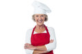 Confident woman chef posing to camera Royalty Free Stock Photo