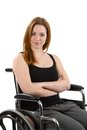 Confident Woman Wheelchair Royalty Free Stock Image