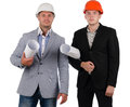 Confident young architectural team Royalty Free Stock Photo