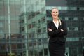 Confident young business woman standing outdoors Royalty Free Stock Photo