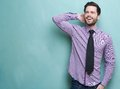 Confident young businessman smiling Royalty Free Stock Photo