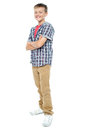 Confident young casual 12 years old boy Royalty Free Stock Photos