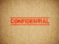 Confidential box text on a shipping background Royalty Free Stock Photography