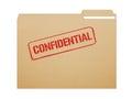 Confidential Folder Royalty Free Stock Photo