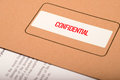 Confidential folder with documents inside Royalty Free Stock Photography