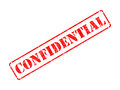 Confidential on red rubber stamp inscription isolated white Royalty Free Stock Photography