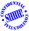 Confidential Rubber Stamp Royalty Free Stock Images
